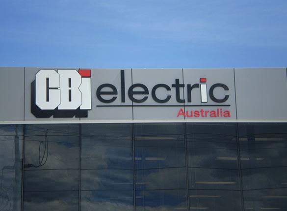 Building Signage CBI Electric1