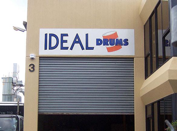 Building Signage Ideal Drums1