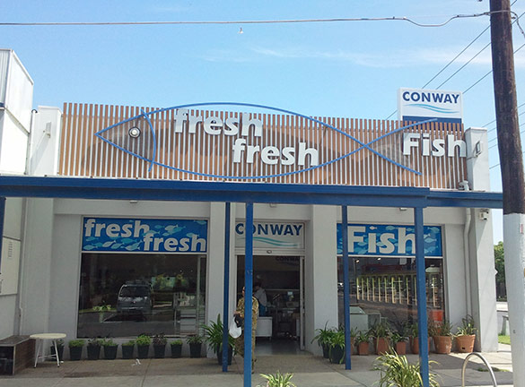 Shop Front Signage Conway Fish1