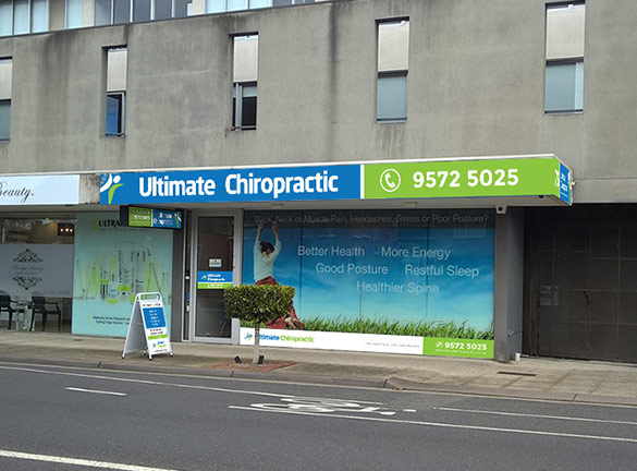 Shop Front Signage Ultimate Chriopractic2
