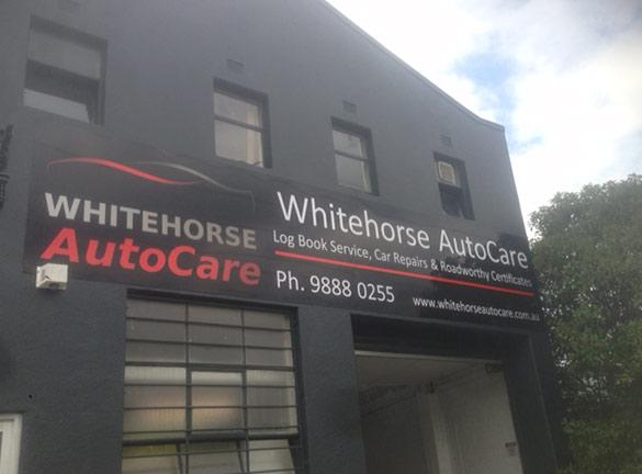 Shop Front Signage Whitehore Autocare1