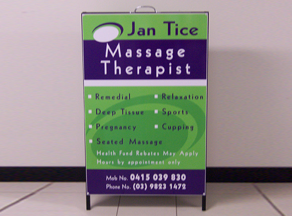 a Frame Jan Tice Massage Therapist
