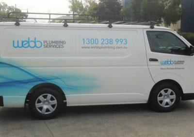 Webb Plumbing Vehicle Signage Image1