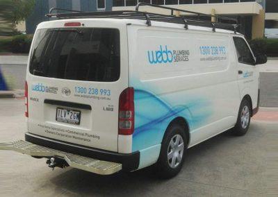 Webb Plumbing Vehicle Signage Image3